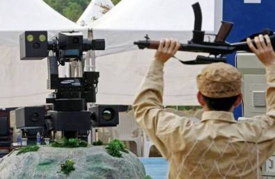 Robotic sentry guns are already in use on the border between North and South Korea - but they aren't autonomous.