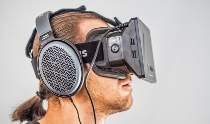 Combining translation technology with virtual reality could revolutionise business relationships. (Oculus Rift )