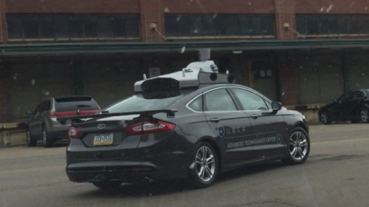 Spotted: Uber test their Self-Driving car in Pittsburgh, Pennsylvania.